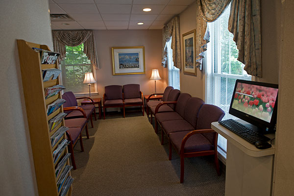 Office waiting room Simi Orthodontics Norwood MA